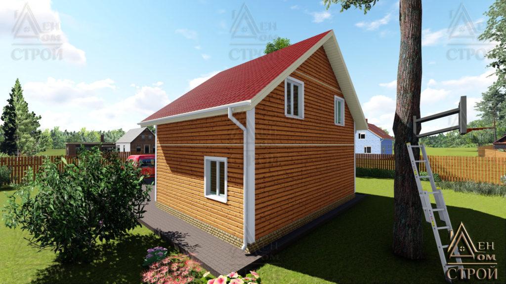 каркасный дом 6х8 двухэтажный