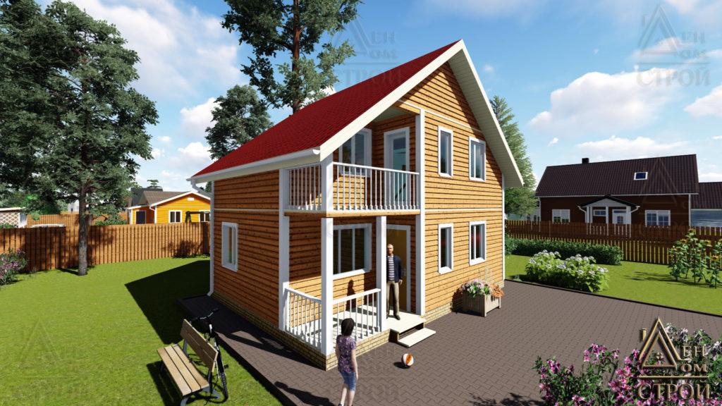 каркасный дом 6 на 8 двухэтажный