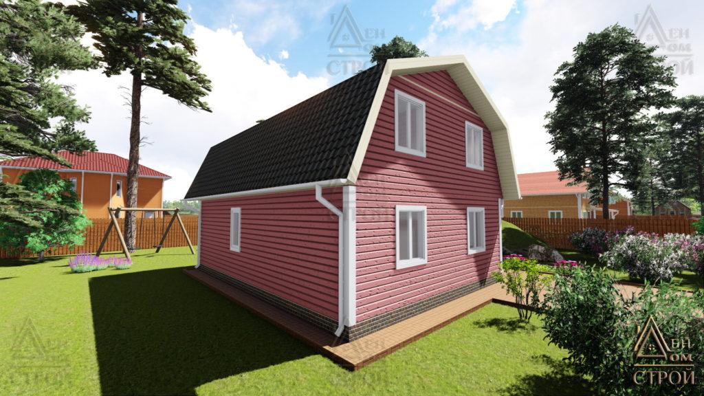 Каркасные дома 7х9 с мансардой