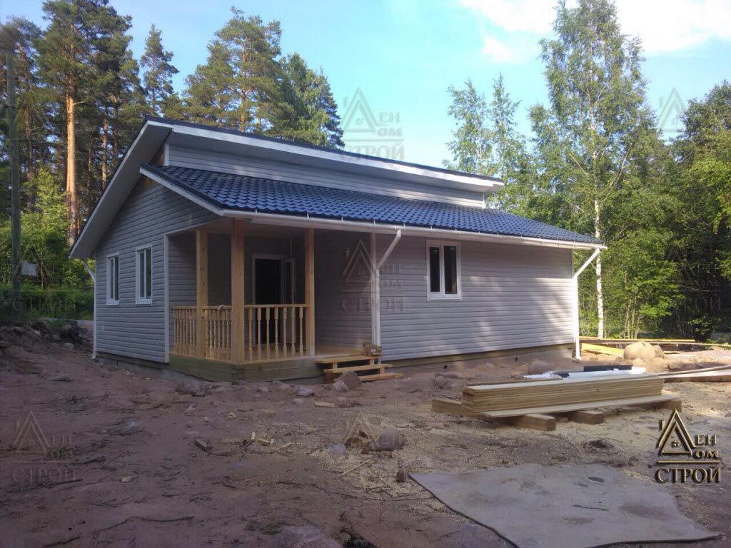Дачный дом 8х10 одноэтажный в спб и лен обл