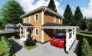 Каркасный дом 7,5x7,5 двухэтажный купить в спб