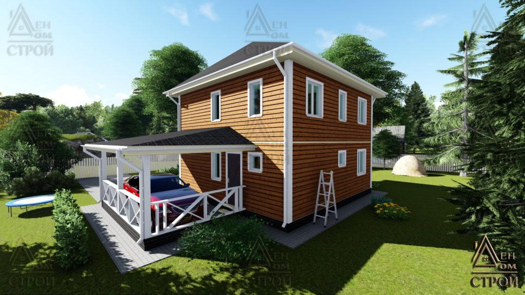 Каркасный дом 7,5x7,5 двухэтажный купить в санкт-петербурге