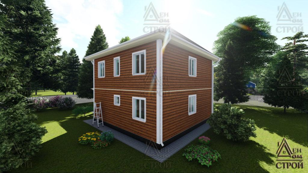 Каркасный дом 7,5 на 7,5 двухэтажный купить в санкт-петербурге