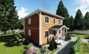Каркасный дом 7,5 на 7,5 двухэтажный купить в спб