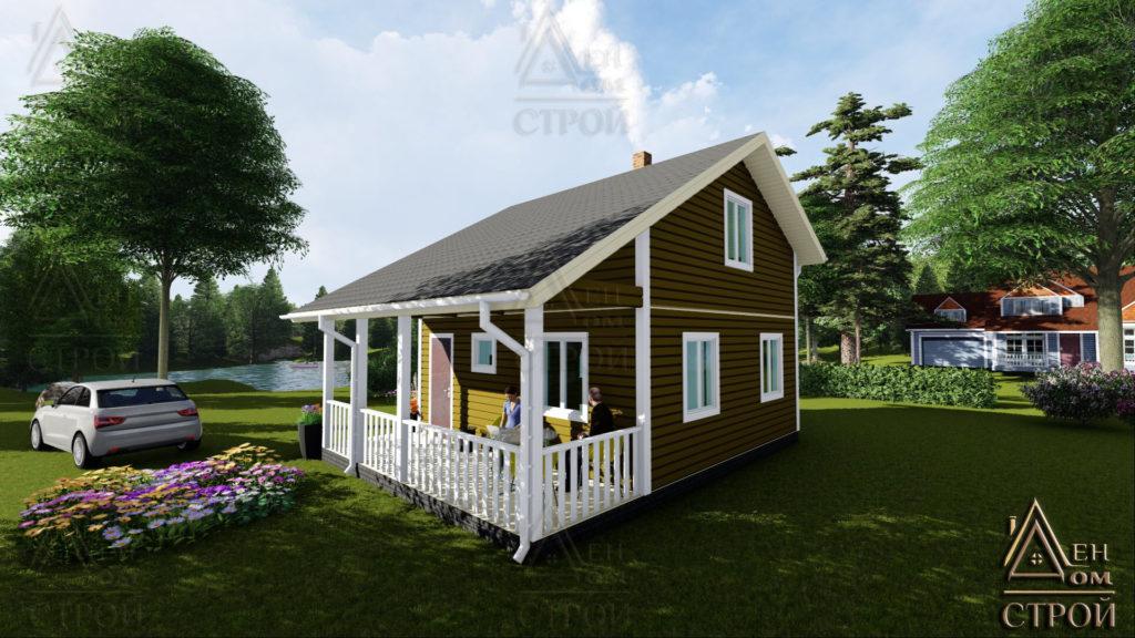 Каркасный дом 7x8 купить в спб