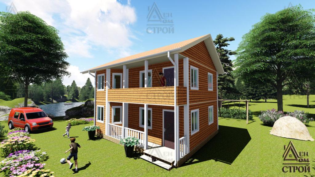 Каркасный дом 7х9 двухэтажный купить в спб
