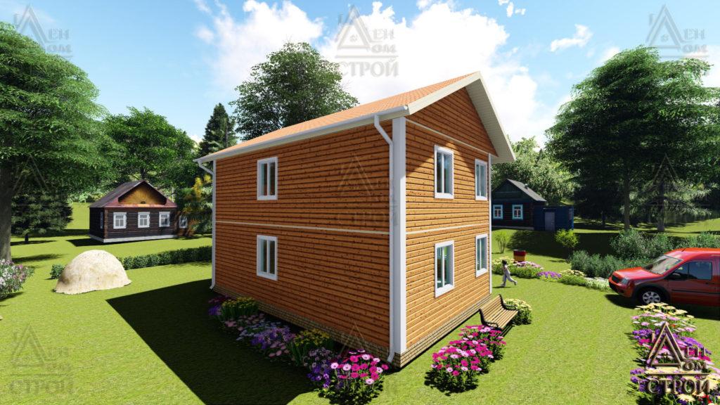 двухэтажный каркасный дом 7 на 9 купить в Санкт-Петербурге