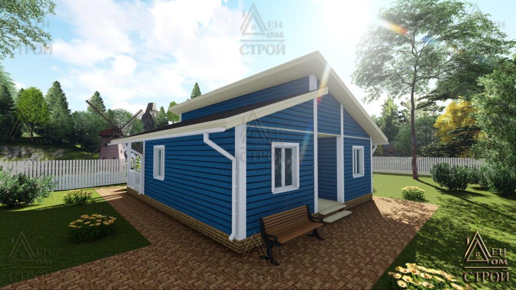 Каркасный дом 8х10 одноэтажный купить в спб