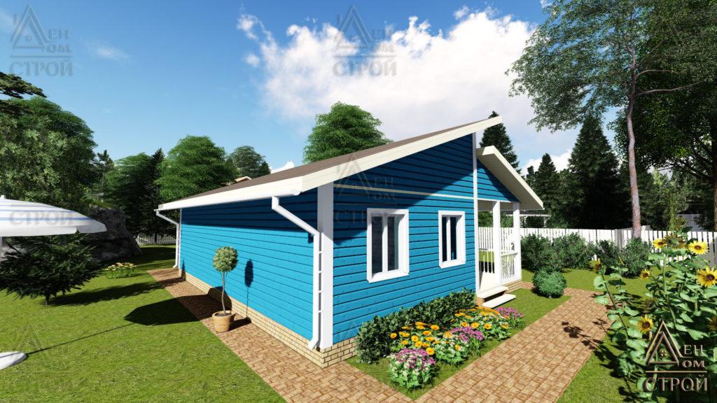 Каркасный одноэтажный дом 8х10 купить в Санкт-Петербурге