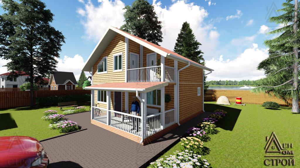Купить каркасный дом 8x8.5 полутораэтажный