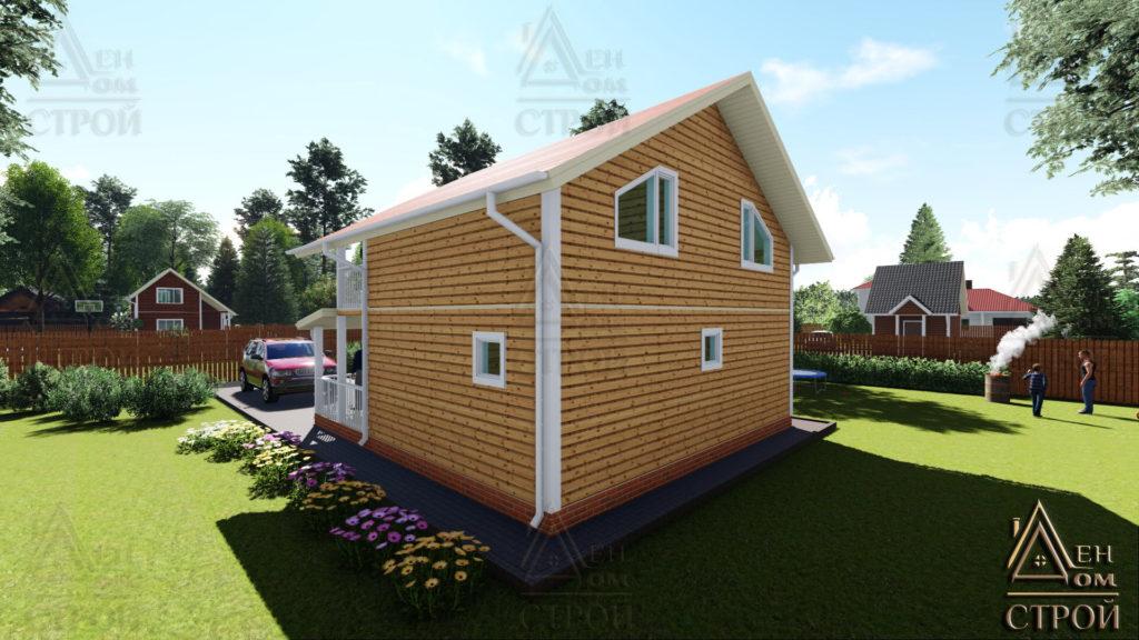 Купить каркасный дом 8x8.5 полутораэтажный в спб