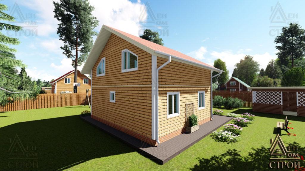 Купить каркасный дом 8x8.5 полутораэтажный в Санкт-Петербурге