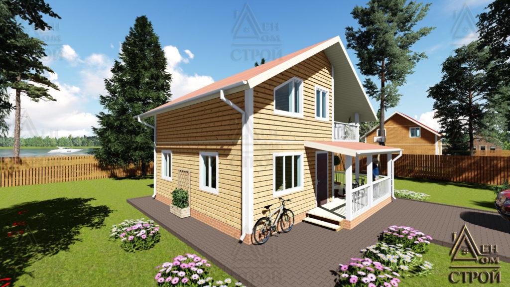 Купить каркасный дом 8x8.5 полутораэтажный в Санкт-Петербурге и Лен обл