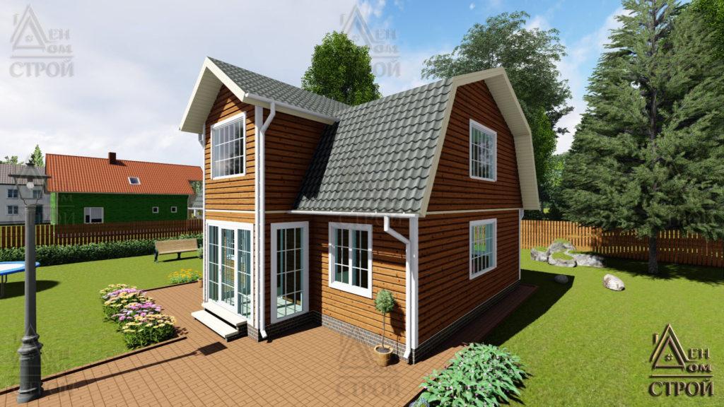 Каркасный дом 9х8,5 с мансардой купить в санкт-петербурге