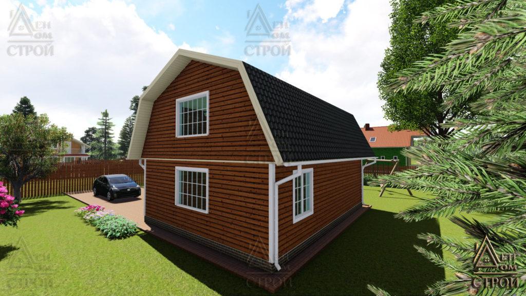 Каркасный дом 9х8,5 с мансардой купить в спб