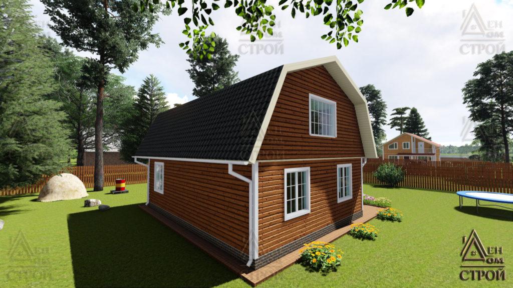 Каркасный дом 9 на 8,5 с мансардой купить в спб