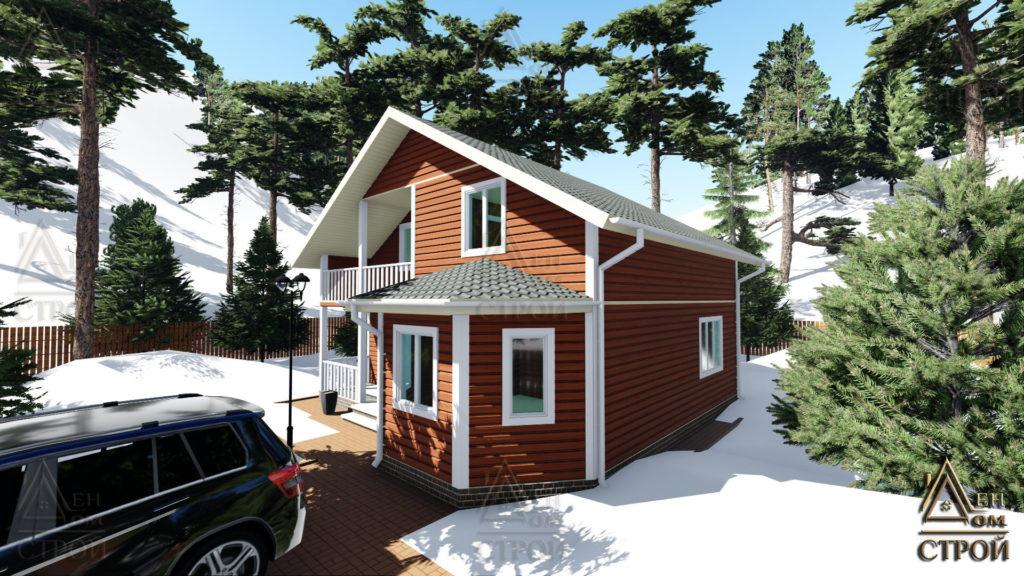 Каркасный дом 9х9 полутораэтажный в санкт-петербурге