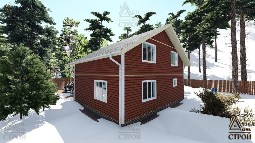 Каркасный дом 9х9 полутораэтажный купить в санкт-петербурге