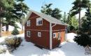 Каркасный дом 9х9 полутораэтажный купить в спб