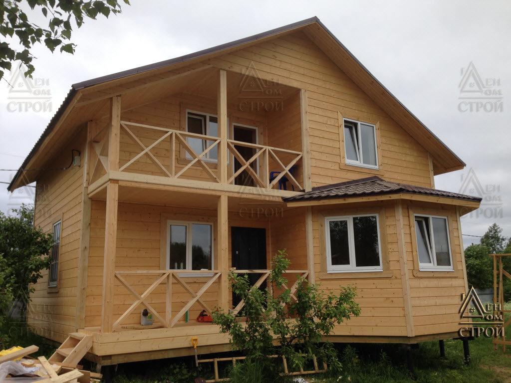 Каркасный дом 9 на 9 полутораэтажный купить в спб