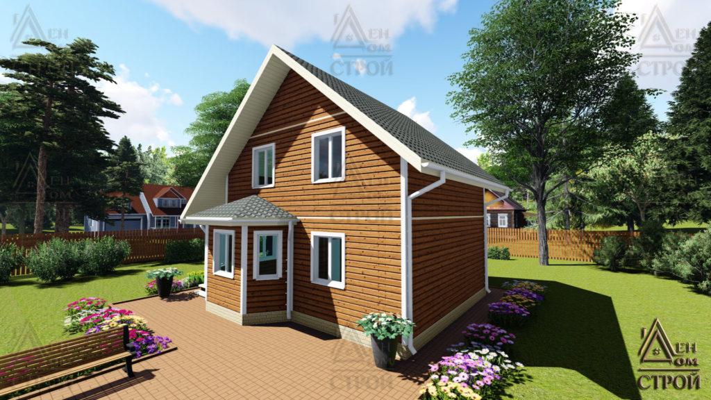 Каркасный дом полутораэтажный 7x8,5