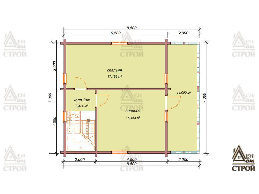 Каркасный дом 7x8,5