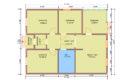 Проект каркасного одноэтажного дома 8 на 10 купить в Санкт-Петербурге