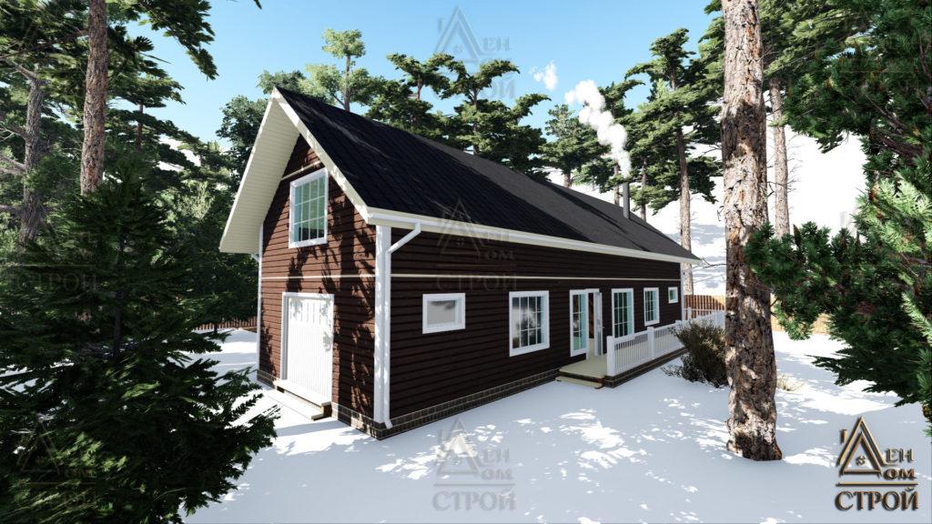Каркасный дом 6 x 18